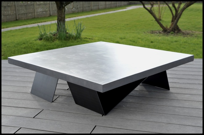 table basse beton cire