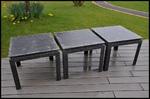 table basse metal acier rivets