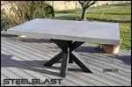 table haute beton