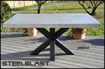 table haute beton cire metal
